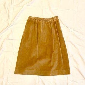 EVAN PICONE Khaki Corduroy VINTAGE Skirt-12/14